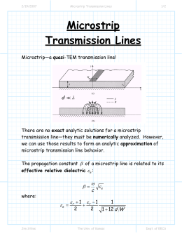 Microstrip Transmission Lines