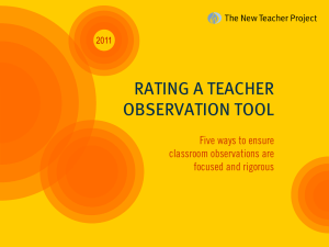 rating a teacher observation tool