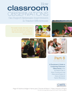 Part 5: How Classroom Observations Can Support