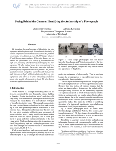 Seeing Behind the Camera: Identifying the Authorship of a Photograph