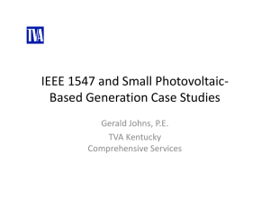 IEEE 1547 and Small Photovoltaic