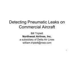Detecting Pneumatic Leaks on Commercial Aircraft