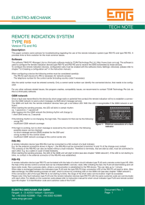 tech note remote indication system type ris