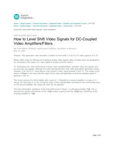How to Level Shift Video Signals for DC-Coupled Video