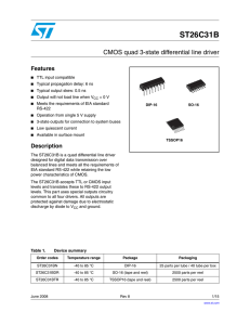 CMOS quad 3-state differential line driver
