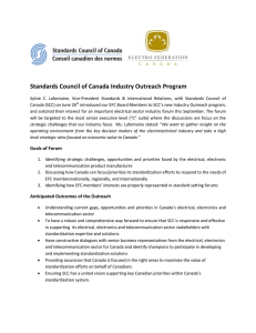 Standards Council of Canada Industry Outreach Program