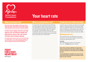 Your heart rate - British Heart Foundation