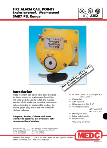 FIRE ALARM CALL POINTS SM87 PBL Range Introduction ATEX