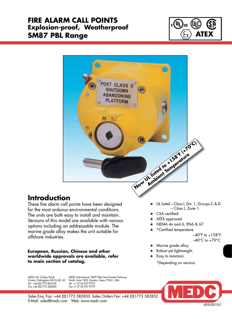 medc manual call point sm87