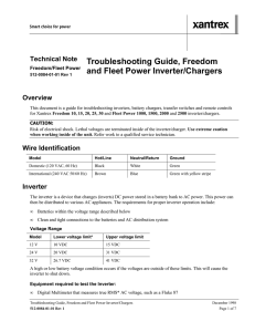 Troubleshooting Guide, Freedom and Fleet Power