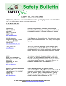 safety related websites