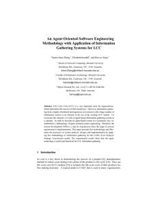 An Agent-Oriented Software Engineering - CEUR