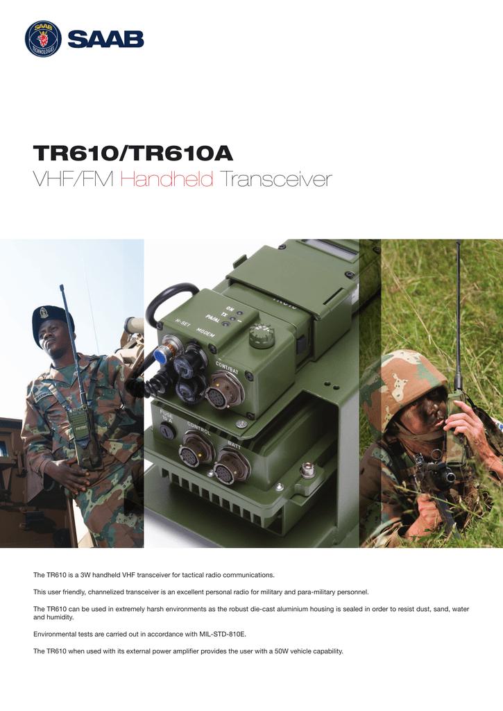 TR610/TR610A VHF/FM Handheld Transceiver