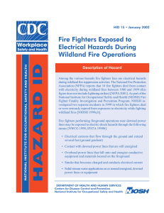 NIOSH Report Relating Cancer and Firefighters