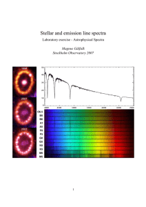 Stellar and emission line spectra