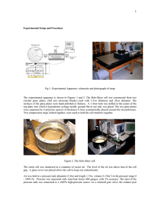 Experimental Setup and Procedure Fig 1: Experimental Apparatus