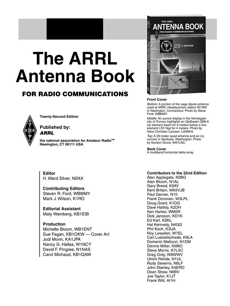 arrl antenna book 22nd edition pdf free download