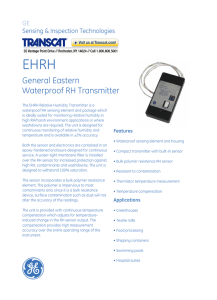 GE General Eastern EHRH2-V10-B Waterproof Relative Humidity