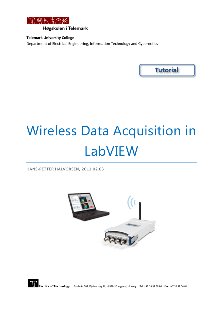 Tutorial: Wireless Data Acquisition in LabVIEW