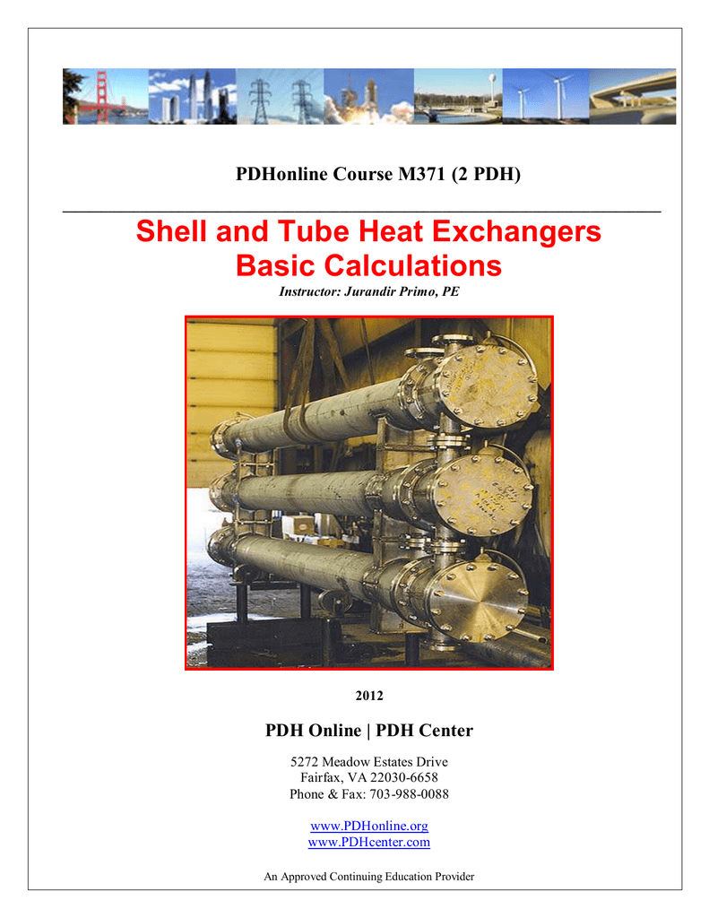 Shell and Tube Heat Exchangers Basic Calculations