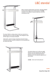 With its chromium-plated tubular steel frame, optimally designed