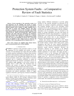Protection System Faults – a Comparative Review of Fault