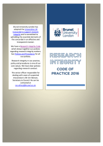 Research Integrity Code