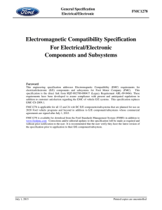 Electromagnetic Compatibility Specification For Electrical/Electronic