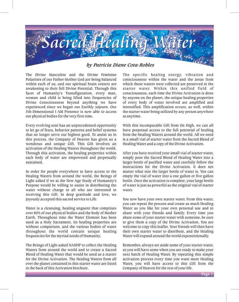 Water Brochure single page file cdr