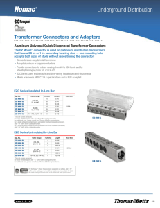 Transformer Connectors and Adapters
