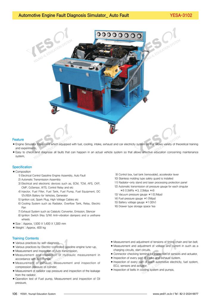 Automotive Engine Fault Diagnosis Simulator_ Auto Fault YESA