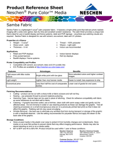 Product Reference Sheet Neschen® Pure Color™ Media