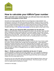 How to calculate your kWh/m2/year number