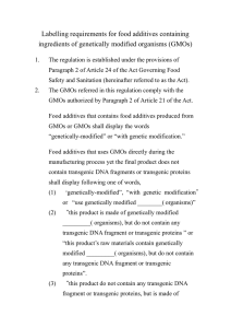Labelling requirements for food additives containing ingredients of