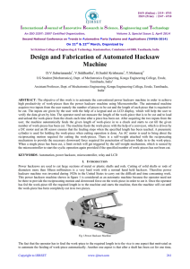Design and Fabrication of Automated Hacksaw Machine