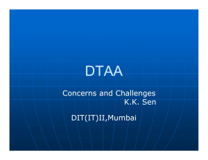 Concerns and Challenges KK Sen DIT(IT)II,Mumbai