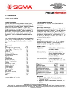 CLAUSEN MEDIUM Product Number C0596 Product Description