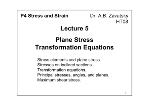 Lecture 5 Plane Stress Transformation Equations