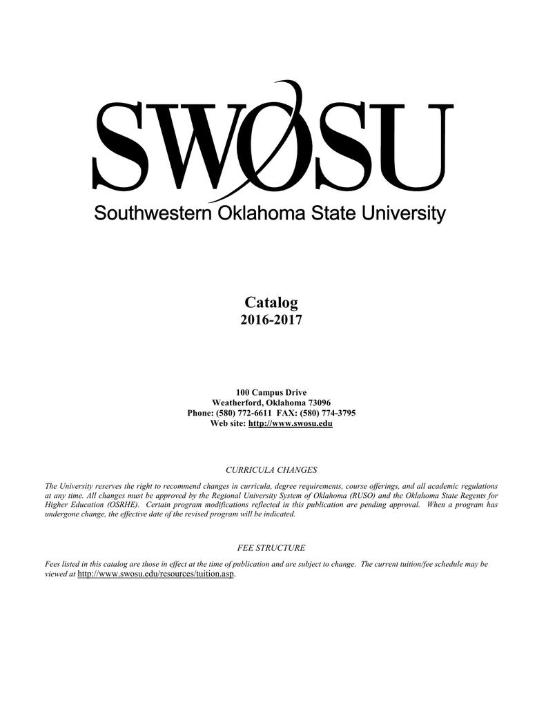 Oklahoma State University Tuition >> Southwestern Oklahoma State University