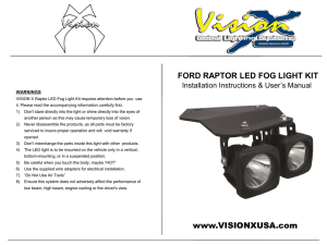 www.VISIONXUSA.com FORD RAPTOR LED FOG LIGHT KIT