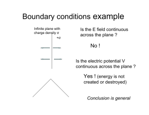 Boundary conditions example