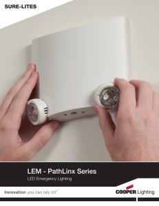 Cooper Lighting Sure-Lites PathLinx Brochure