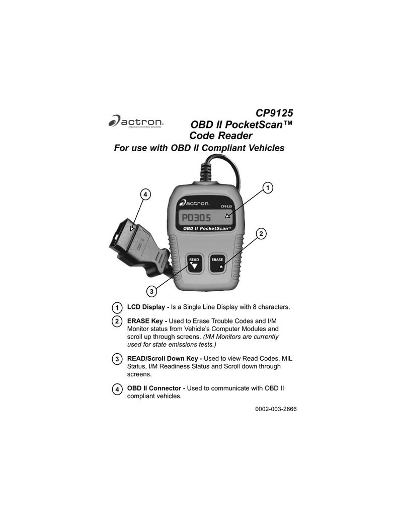 CP9125 OBD II PocketScan™ Code Reader