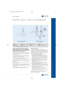 sentry safety device assemblies