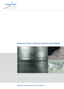 Reference Photo Guide for Stainless Steel Welds