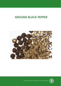 ground black pepper - Food and Agriculture Organization of the