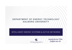 DEPARTMENT OF ENERGY TECHNOLOGY AALBORG UNIVERSITY