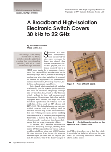 A Broadband High-Isolation Electronic Switch Covers