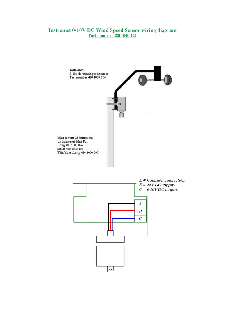 instromet 0 10v dc wind speed sensor wiring diagram Garage Door Safety Sensor Diagram