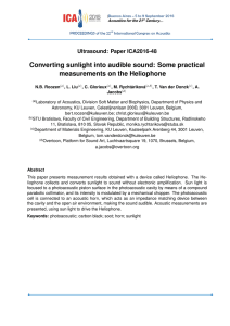 Converting sunlight into audible sound: Some practical